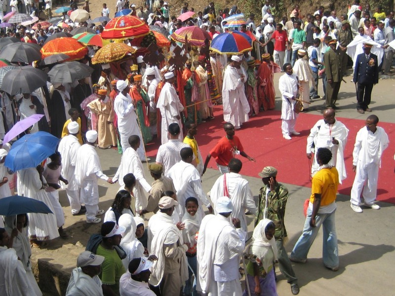 Timkat procession in Gonder