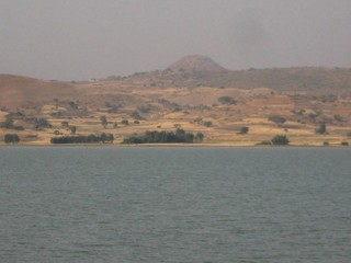 #1: General view of the confluence area, the point 4.2 km away