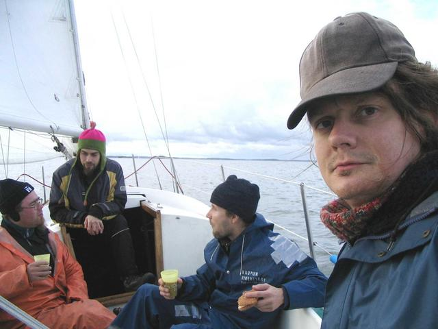 On our way - Crew from the left: Ville, Perttu, Heikki and me, Timo