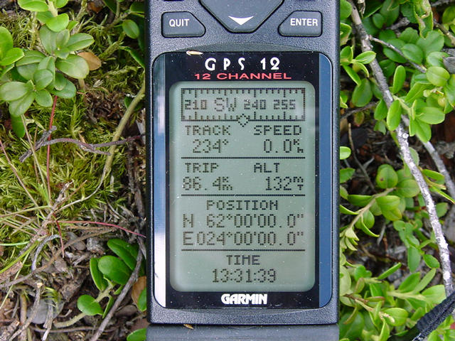 Garmin GPS12 display information