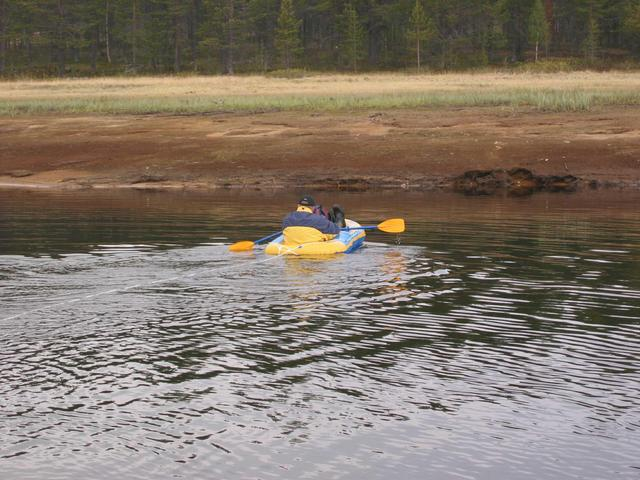 Jukka crossing The Luiro river