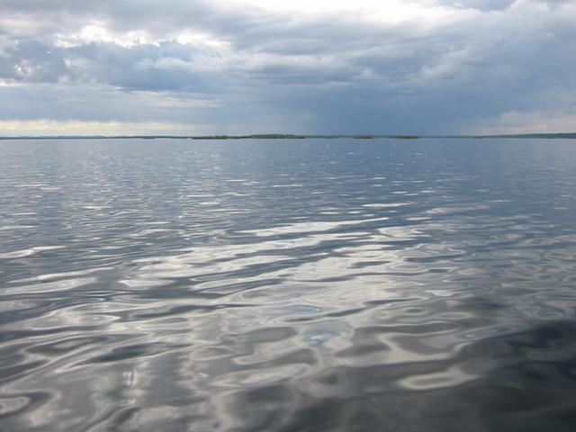 Calm waters near the position