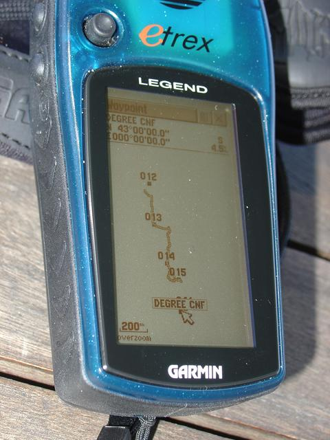 Our route, such as the GPS handset was able to capture it