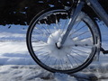 #11: My front wheel while cycling over the Col de Partel
