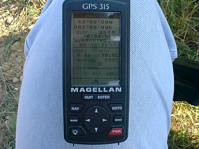 GPS reading at confluence point