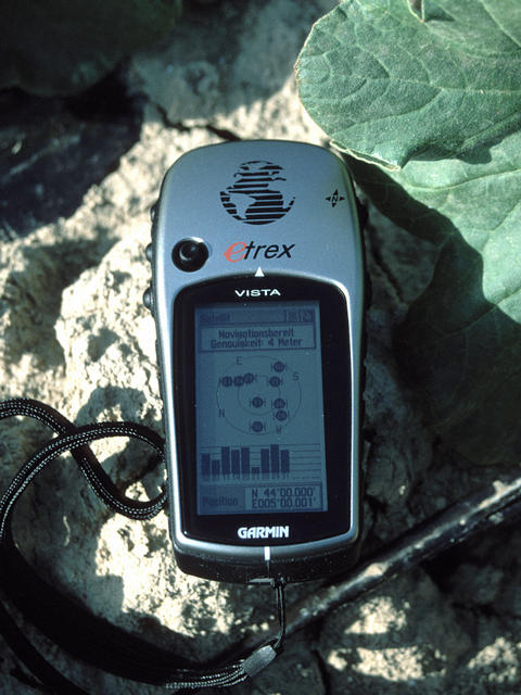 Picture of GPS at confluence point