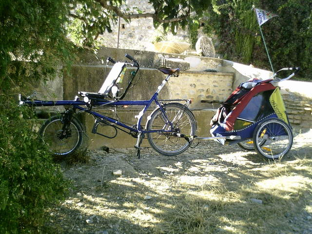 "Our special tandem ""Pino"" with trailer"