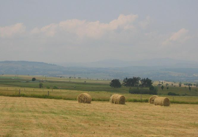 View West to the Cantal Mountains