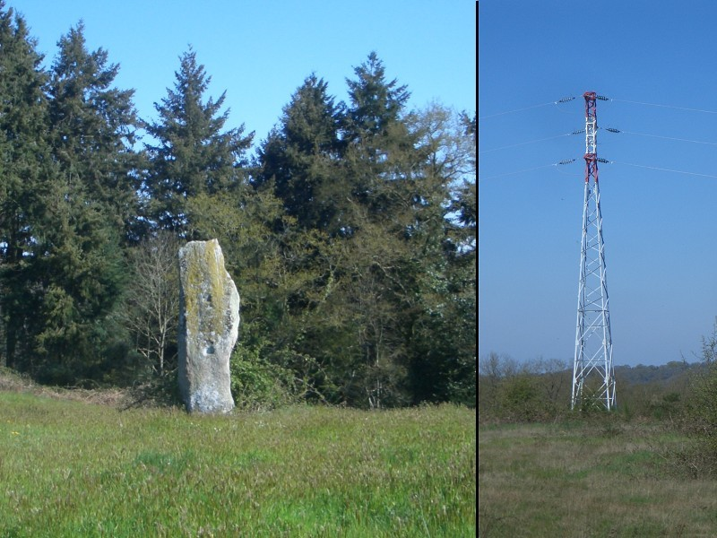 The Menhir & the electricity pole