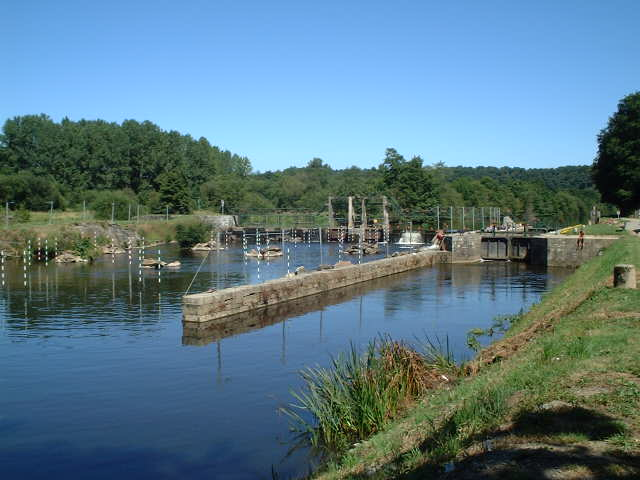 Lock Nr. 6 of the River Blavet at Rimaison