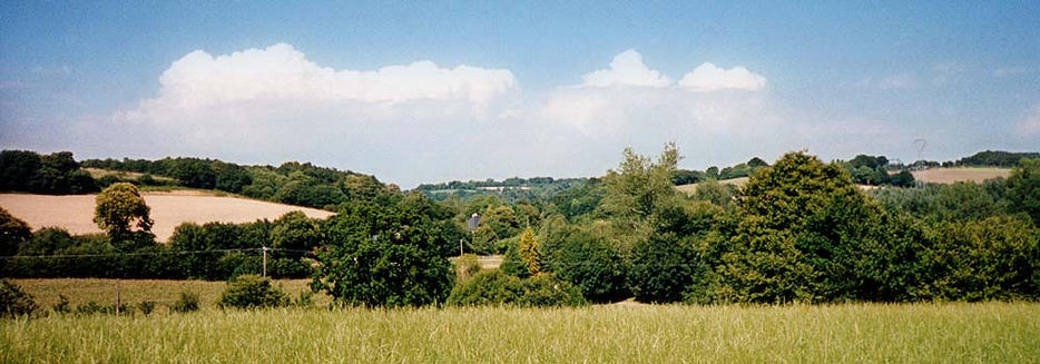 The panorama looking north-east from the confluence