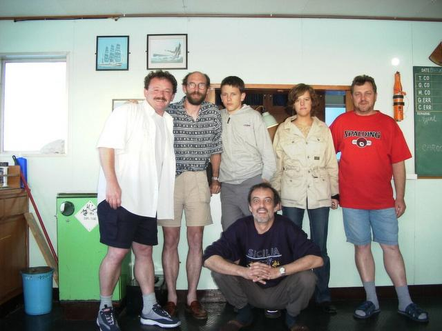 From left to right: Thomas, Werner, David, Anika, Volodymyr, in front Captain Peter