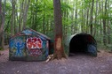 #8: A shelter in the forest, about 150m south of the point