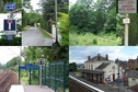 #8: Chemin des Bois road, mid-forest glade with warning plate, and the railway station in Triel-sur-Seine