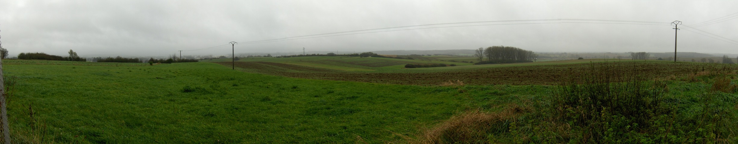 Panoramic view to south