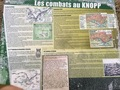 #12: Signpost informing about the battle of the Knopp hilltop