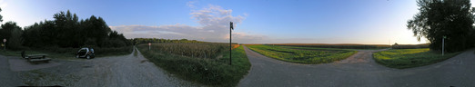 #1: 360-degree panorama from the bike path 30 m from the point