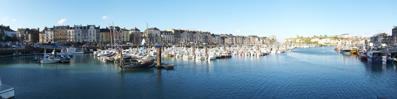 Panoramic view of Dieppe's port