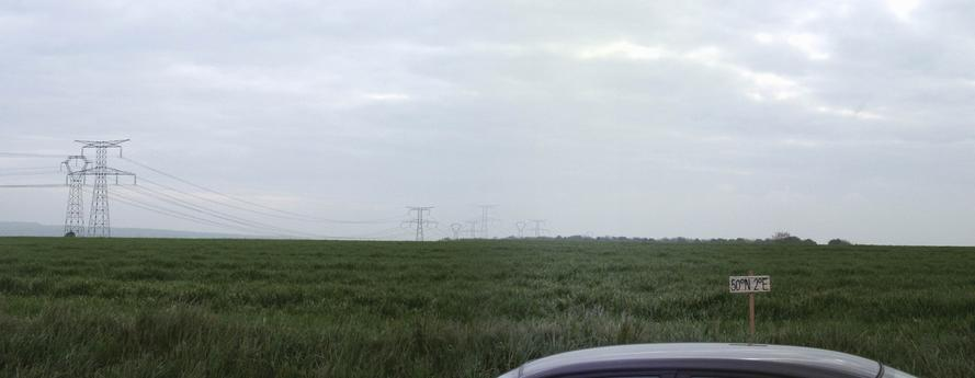 Confluence ~50m inside the wheat field - view to SE