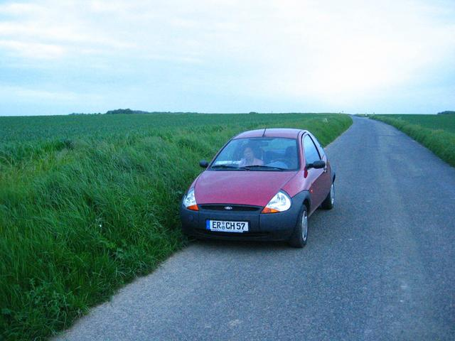 'KA' parked near the Confluence