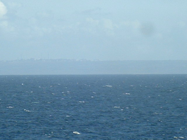 Cap de La Hague and parts of Cherbourg seen from the confluence