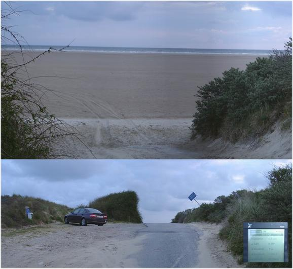 "Parking & dunes at ""Plage des Hemmes"""
