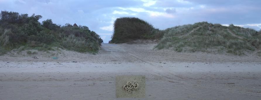 "Beach access trough the dunes from ""Plage des Hemmes"""