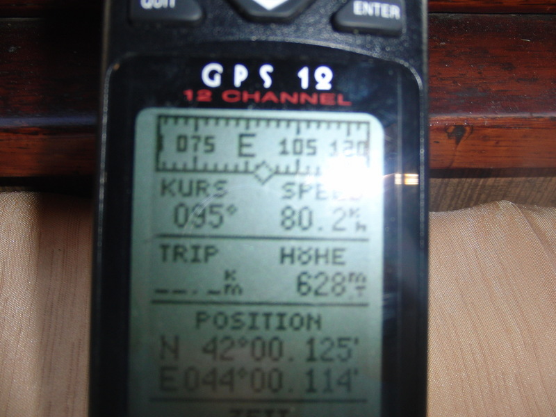 GPS nahe N42°E44° / GPS close to N42°E44°