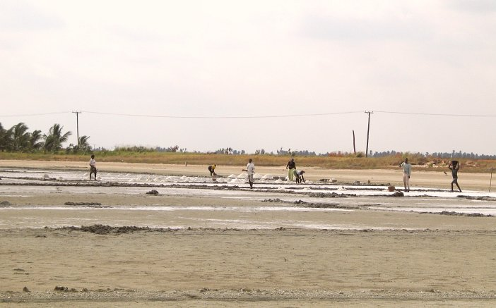 Salt panning in the area