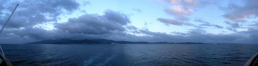 #1: View back towards Grenada, just before sunset