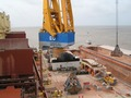 #7: Loading bauxite at New Amsterdam, Berbice River, Guyana)