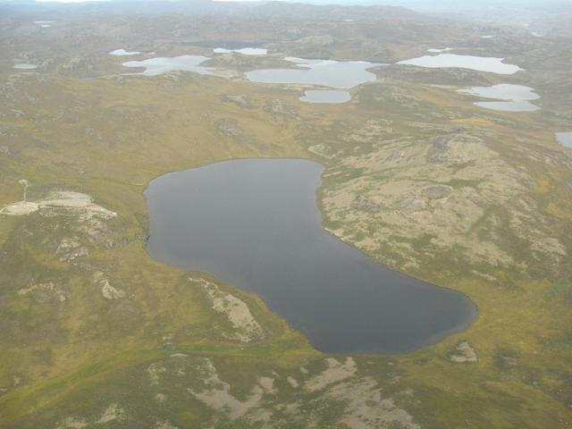 View west, the area seen from an airplane