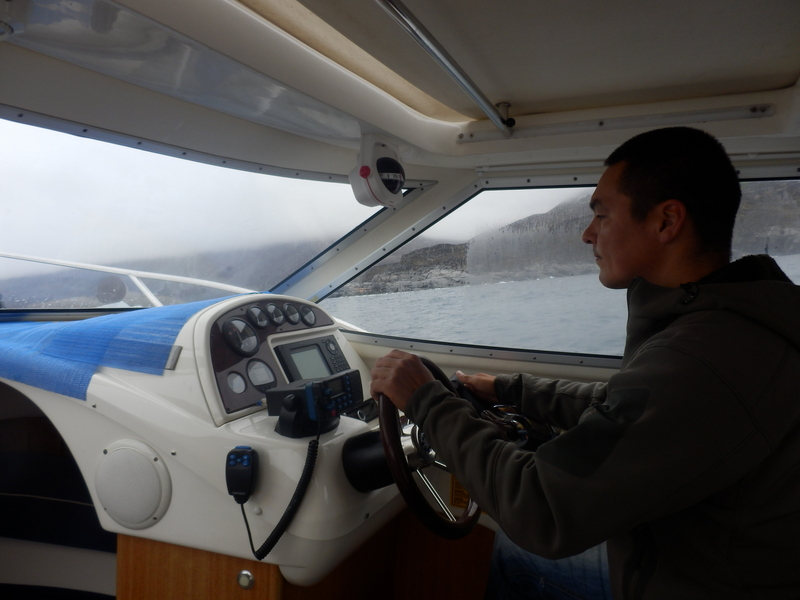 Steve in the Chartered Boat