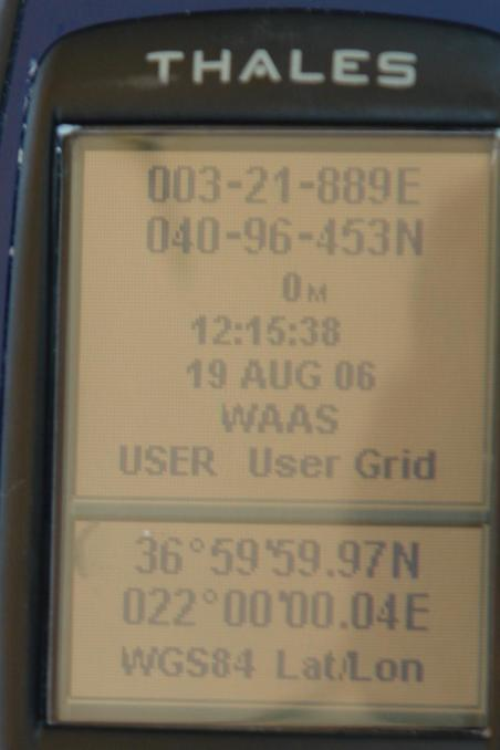 GPS reading on the confluence