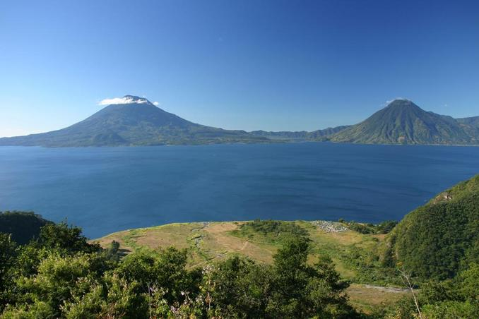 Lake Atitlan, from where we started our trip that day.