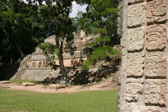 The famous Maya ruins of Copán.