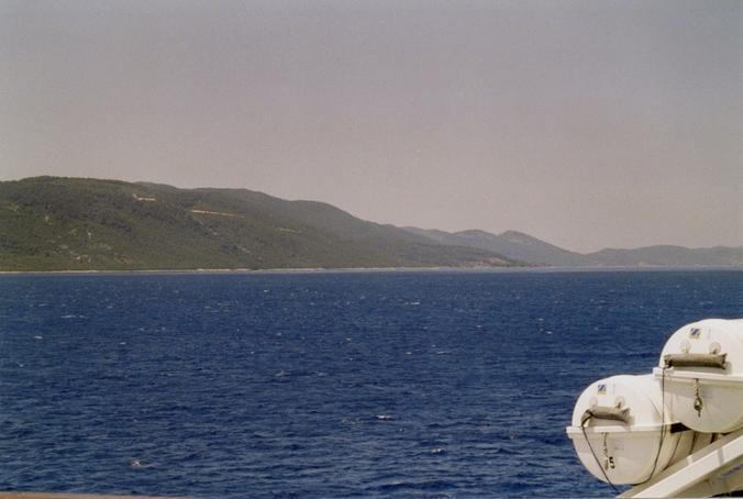 Looking northeast, peninsula of Pelješac