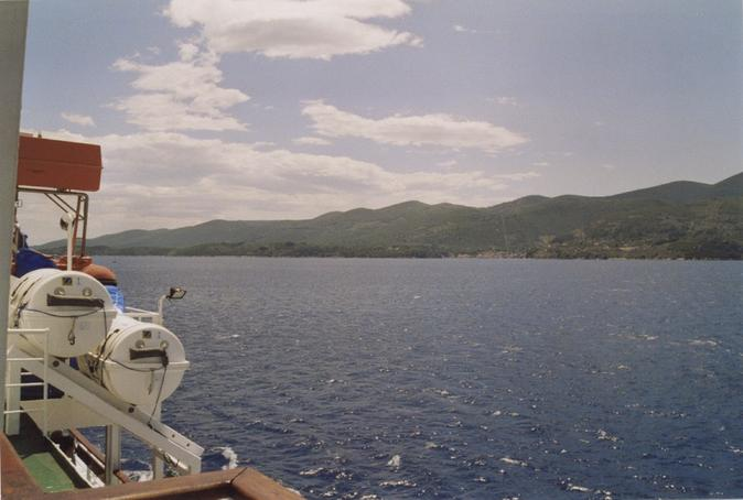 Looking southeast, island of Korčula