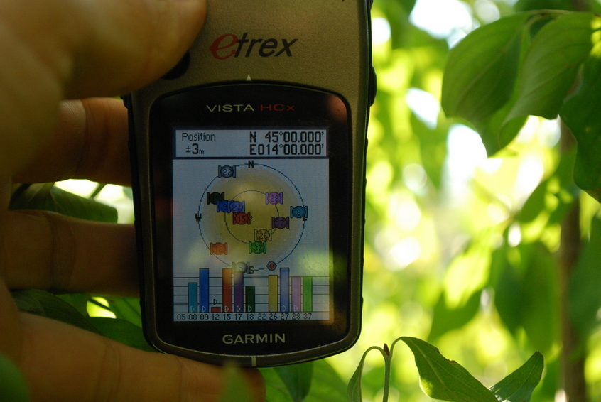 GPS reading at CP 45N 14E
