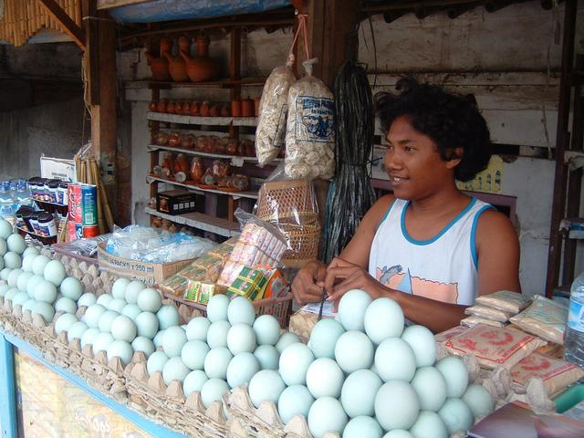 Salted eggs (telor asin) are a local delicacy