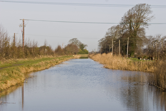Canal next to the road
