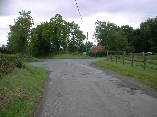 The crossroads beside the field