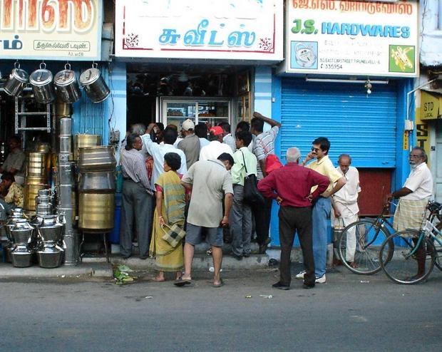 Halwa shop in Tirunelveli