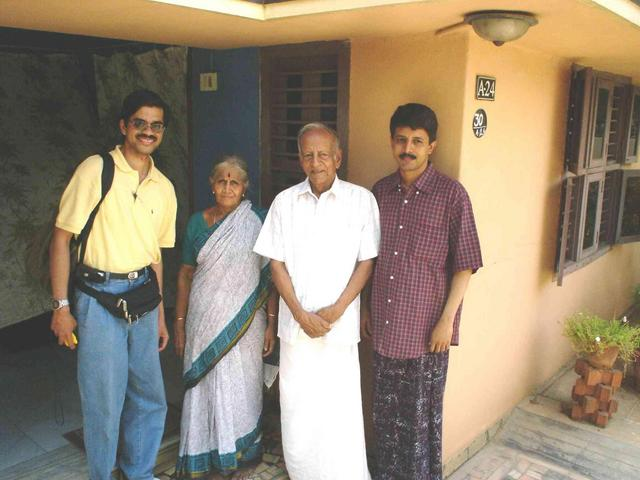 Lakshman with Jaikanth and his folks in Madurai
