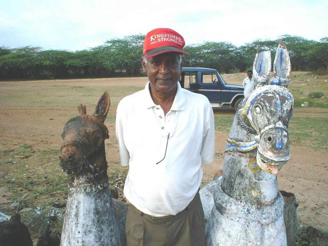 Nath with earthenware horses near 10N79E