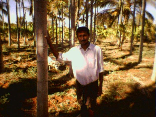 Shivakumar, caretaker of the farm in which we located 14N76E