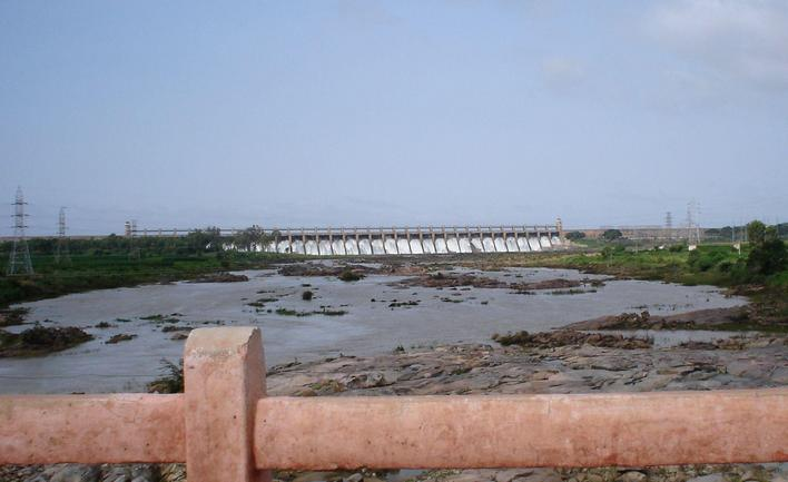 The Tungabhadra dam near Hospet