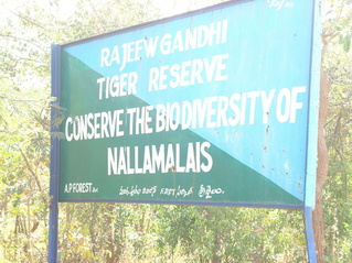 #1: Sign board of Rajiv Gandhi Tiger Reserve