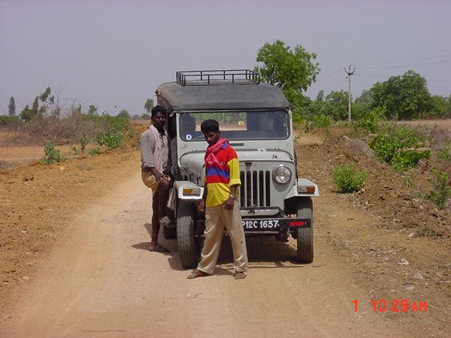 "The ""jeep"" that carried us there and nearly back"