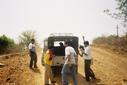 "#6: Push... if you want to go back home. The team cajoles the ""jeep"" to start"